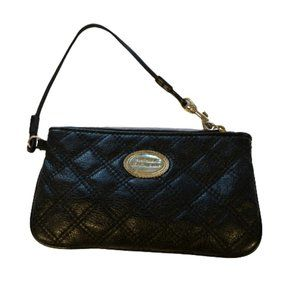 THE SAK Black Quilted Leather Small Wristlet